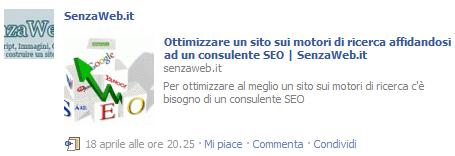 Anteprima post facebook