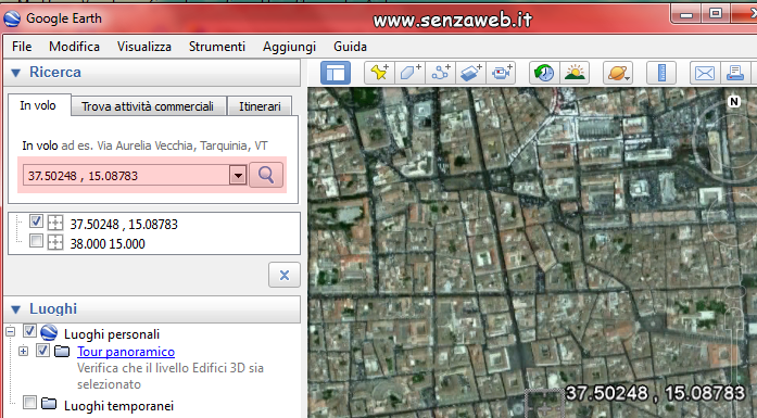 Localizza ip con Google Earth