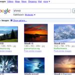 Immagini visualizzate nel motore di ricerca Google