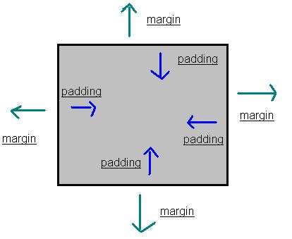 Differenza tra padding e margin