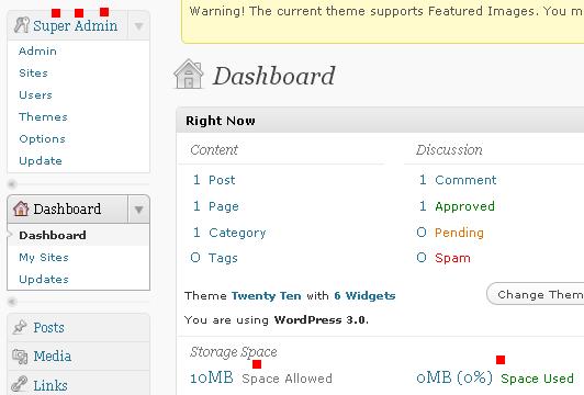 Super admin - WordPress multi-utente
