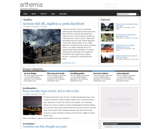 template wordpress arthemia